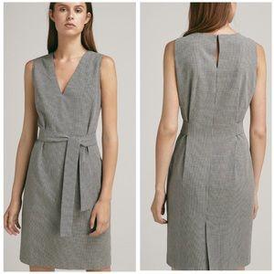 NWT Massimo Dutti Houndstooth Cotton Pencil Dress